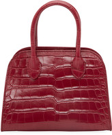 The Row Margaux 7.5 Top-Handle Bag in Alligator Exotic