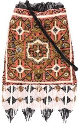 Etro beaded-fringe cross body bag