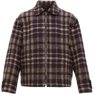 Raey Harrington Checked Wool Jacket - Navy Multi