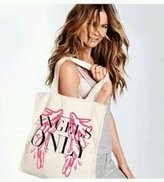Victoria's Secret Angels Only Wings Canvas Tote Bag
