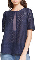 BCBGeneration Honeycomb Lace Blouse