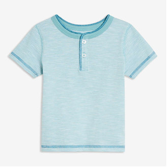 Joe Fresh Baby Boys' Stripe Henley Tee, Light Blue (Size 3-6)