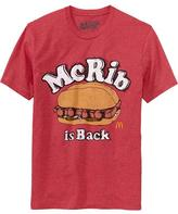 "Old Navy Men's McDonalds's© ""McRib is Back"" Tees"