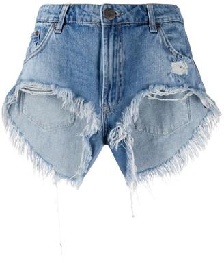 One Teaspoon Distressed Cut-Off Shorts