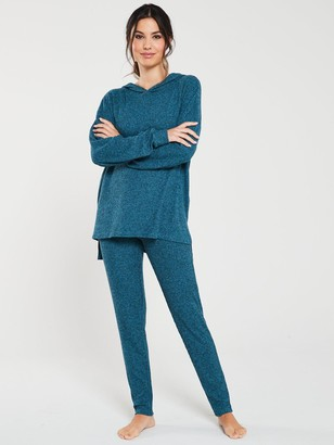 Very Ribbed Lounge Trouser - Teal
