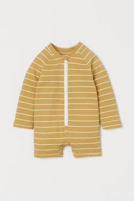 H&M Swimsuit UPF 50 - Beige