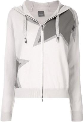 Lorena Antoniazzi Star-Print Hooded Knit Jacket