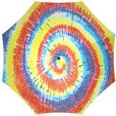 Tie Dye Umbrella Cute Colorful Tie Dye Spirals Pattern Folding Portable Outdoor Rain /Sun Umbrella Beach Travel Shade Sunscreen For Women/Men