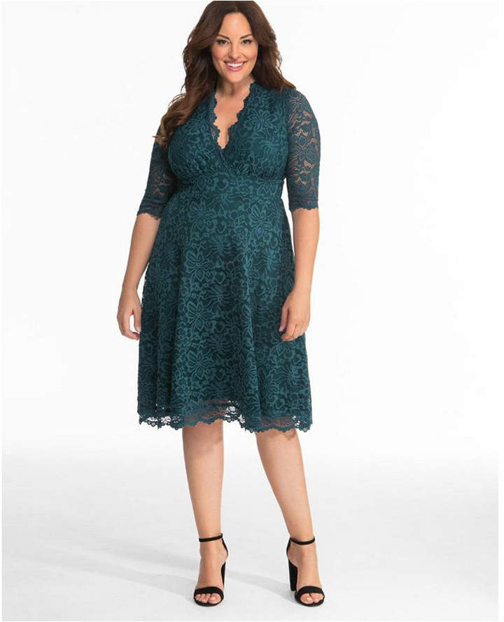 Women Plus Size Mademoiselle Lace Dress