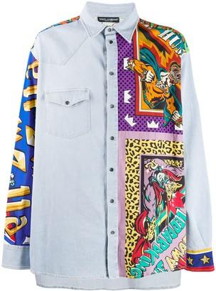 Dolce & Gabbana printed insert denim shirt