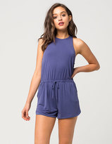 Full Tilt High Neck Cupro Womens Romper