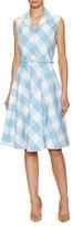 Oscar de la Renta Sleeveless Flannel Wool Midi Dress