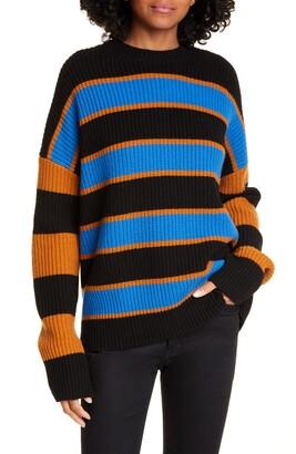 A.L.C. Roman Striped Crew Neck Sweater