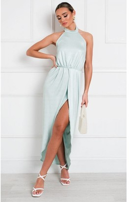 IKRUSH Serena Halterneck Backless Maxi Dress