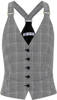 Max Mara Muriel houndstooth cotton vest