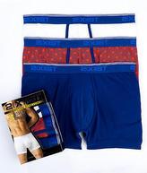 2xist Cotton Stretch Boxer Brief 3-Pack Underwear - Men's