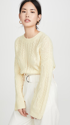 Vince Open Knit Cable Crew