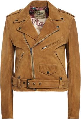 Ralph Lauren Suede Belted Moto Jacket