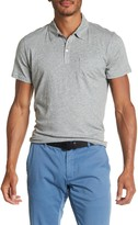 Zachary Prell Breve Heathered Knit Chest Pocket Jersey Polo