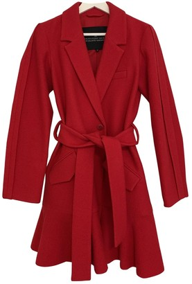 Designers Remix Red Wool Jacket for Women