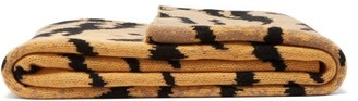 Saved Ny - Calabria Tiger Stripe Knitted Cashmere Blanket - Brown Print