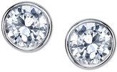 Unwritten Cubic Zirconia Round Stud Earrings in Sterling Silver