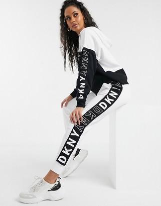 DKNY tape logo detail jogger-White