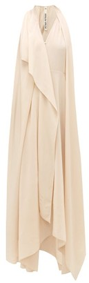 Petar Petrov Aliya Draped Silk-crepe Dress - Ivory