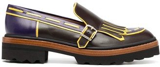 Fratelli Rossetti Single-Buckle Leather Derby Shoes