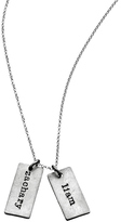 Sweet Pea Urban Sweetpea Double Name Tag Necklace