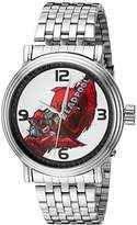 Marvel Men's 'Deadpool' Quartz Metal and Stainless Steel Watch