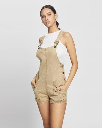 Rusty Women's Yellow Playsuits - Railway Playsuit - Size One Size, 10 at The Iconic
