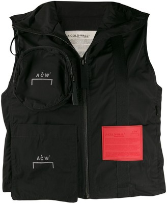 A-Cold-Wall* Cropped Zipped Gilet