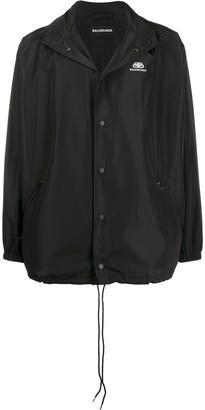 Balenciaga Printed Logo Rain Jacket