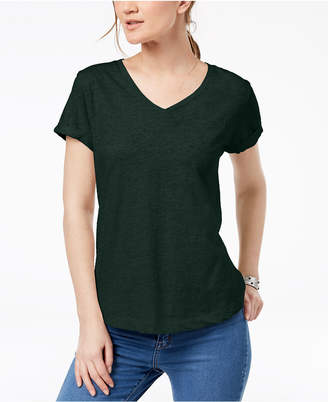 Style&Co. Style & Co Petite V-Neck Pocket T-Shirt
