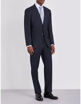 Armani Collezioni Pindot-pattern Slim-fit Wool Suit