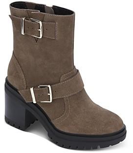 Kenneth Cole Women's Rhode Double Buckle Platform Boots