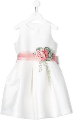 Mimilù Floral Embellished Flared Dress