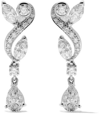 De Beers 18kt white gold Adonis Rose diamond pendant earrings