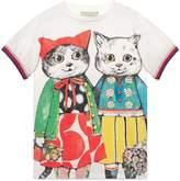 Gucci Children's dress with kitten friends print