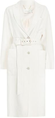 Zimmermann Luminous Belted Linen-Silk Duster Coat