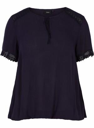 Zizzi Women's Kurzarm Bluse Blouse
