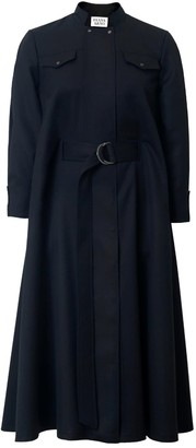 Diana Arno Irene Wool Cape Dress In Moonless Night