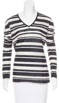 Enza Costa Cashmere Striped Sweater