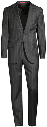 Isaia Microns Double-Stripe Classic-Fit Wool Suit