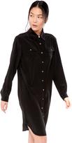 Zady Silk Shirtdress Black Silk Shirtdress