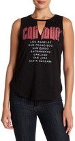 Hip California Front Graphic Print Distressed Tank