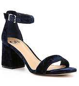 GB Block-Party Velvet Banded Dress Sandals