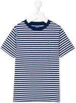 Ralph Lauren striped logo T-shirt - kids - Cotton/Polyester - 2 yrs