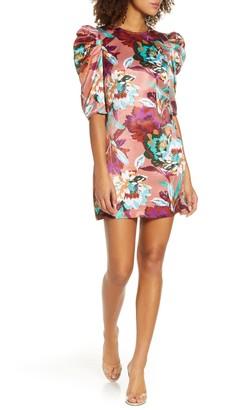 Ali & Jay Young, Free & Single Floral Satin Minidress